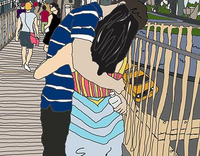 Kiss on the Bridge