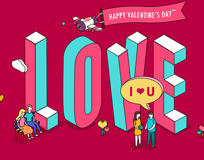 Valentine's Day because of love