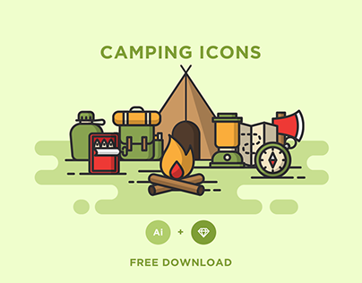 FREE - CAMPING ICONS