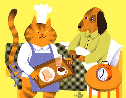Cat & dog risoprint