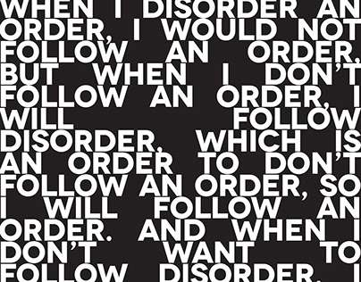 DISORDER PLEASE! / poster series for CHEAP festival