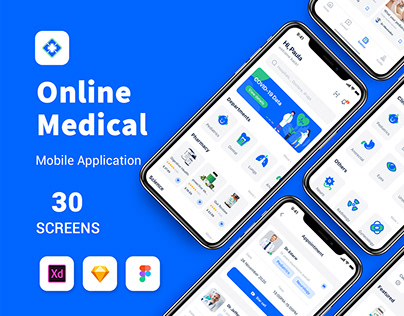 online medical mobile app ui kit