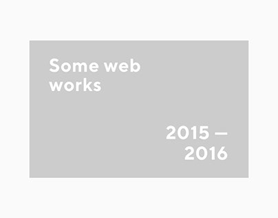 Web — 2015 / 2016. Part I