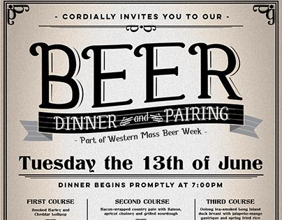 Beer Dinner Poster Design