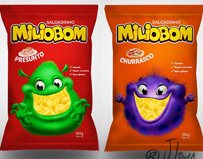 Character Design for Miliobom`s packaging