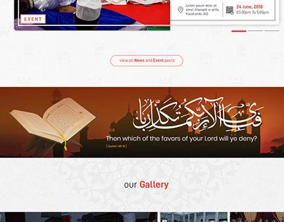 Jamia Arifia | New Website Layout Concept