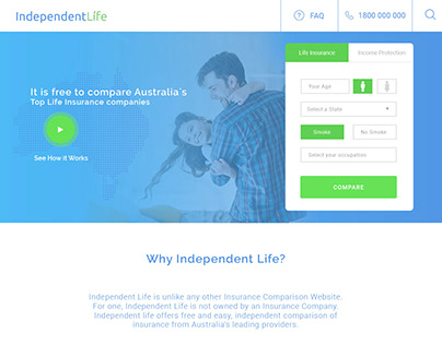 Independent Life Insurance web application