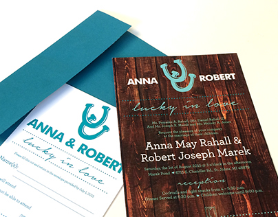 Anna & Robert Wedding Invitation