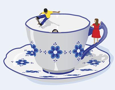 Tea cups or rice crispies