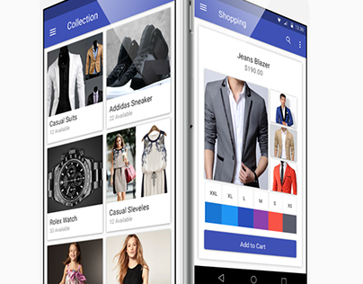 Material E-commerce Fashion App UI