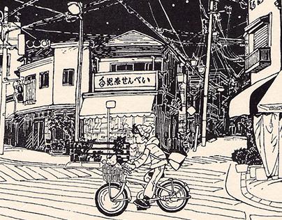 """""""Sumizuri-e, 100 Views of Tokyo 1-5"""""""