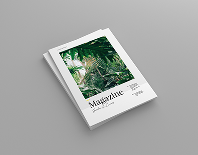 Garden And Leaves Magazine Template