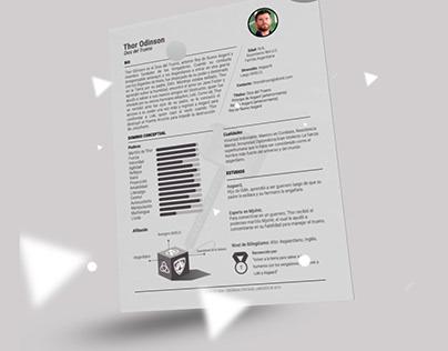Free Curriculum Vitae - Thor Template