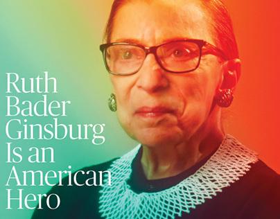 The New Republic cover and editorial spread.