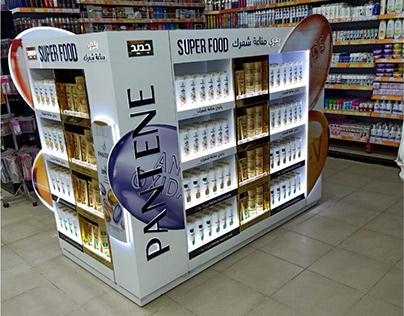 Pantene floor display
