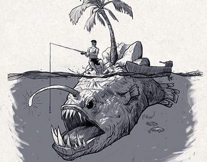 Inktober 2019 (3) 'bait'