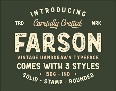 Farson – Vintage Typeface