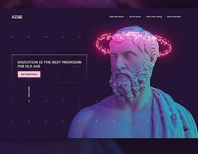 AI landing page design with dark mode