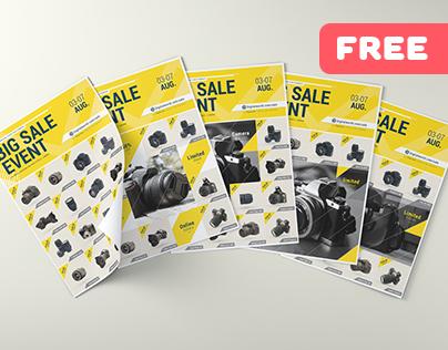 E Commerce Sale Event - Free Flyer Template