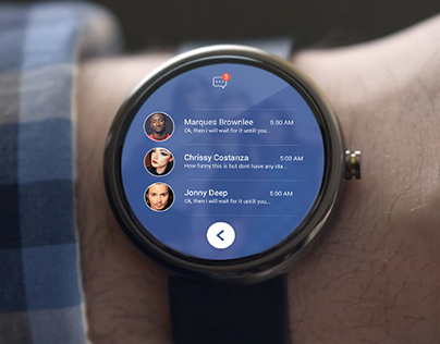 Facebook android wear concept design