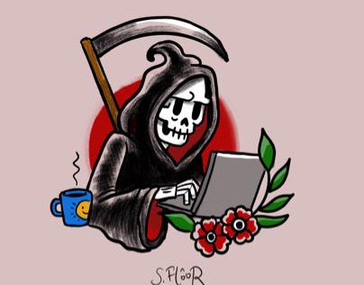 Death tries to write a book