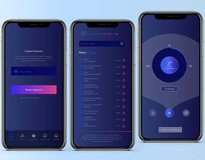 Дизайн интерфейса для мобильной версии Radio Musics