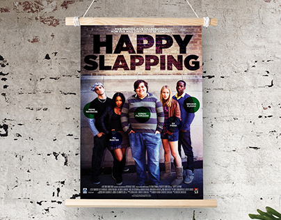 Happy Slapping movie poster design