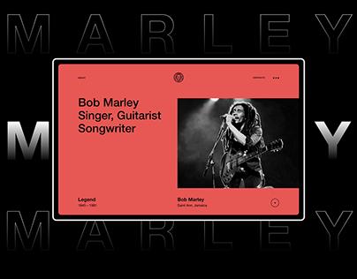 Bob Marley Webdesign Concept