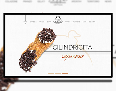 Italian Bar Web Site Ui Ux confectionery pastry making