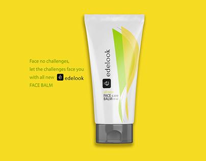 Edelook Face Care Balm Logo, Packaging & Branding