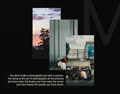 Minimal photography blog