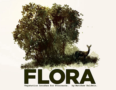 FLORA: Vegetation brushes for Procreate