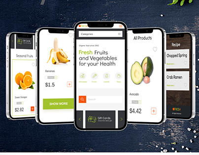 Online Store. Fruits and Vegetables