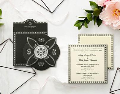 Designer Hindu Wedding Invitations - IndianWeddingCards