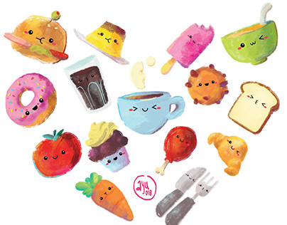 Kawaii Food Stickers