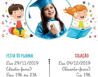 Convite de Formatura Pré Escola 2019 - Colégio Guiness