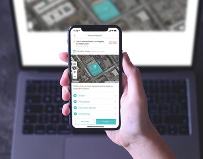 DroneBase Pilot App: Mission Accept Flow