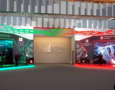 Multimedia Exhibition Stands at Moscow Financial Forum