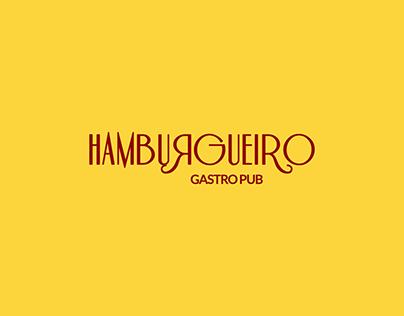 Identidade Visual Hamburgueiro Gastro Pub