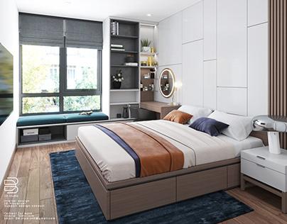 FREE SCENE Bedroom share by D3 studio