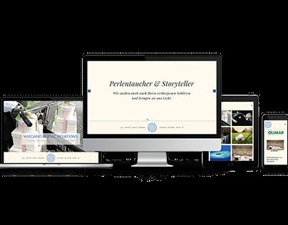 Responsive Website für Wiegand PR