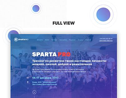 """Разработка Landing Page для компании """"SPARTA PRO"""""""
