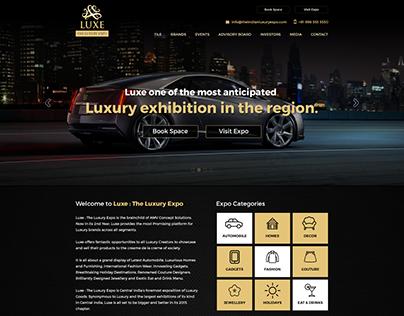 Luxe - The Luxury Expo Website UI/UX