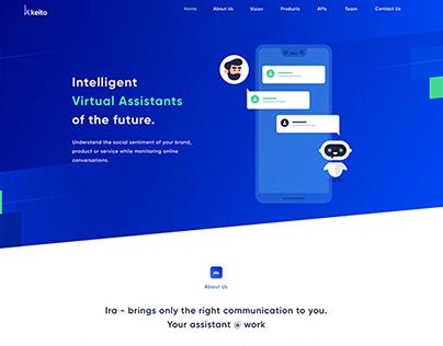 Landing page design Virtual assistants product