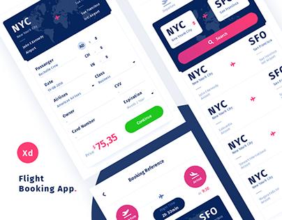 Flight Booking App | Free Adobe XD Template
