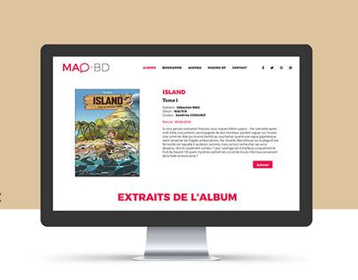 Site de Sébastien Mao auteur de Bd