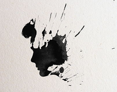 I really like drawing the silhouette of a profile...