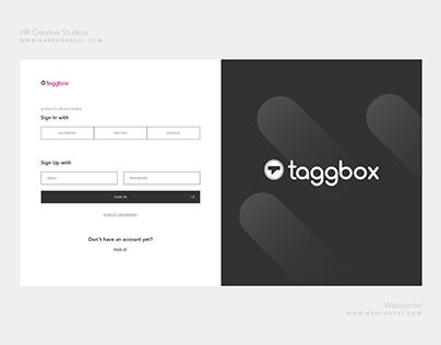 Login and Sign up Dark Layout