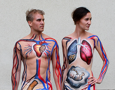 Body art for no-smoking campaign (Pfizer)