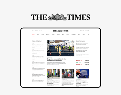 The Times — News website redesign